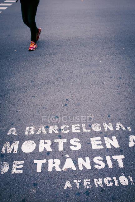 Strada con iscrizioni in Barcellona — Foto stock