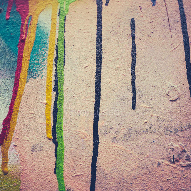 Close-up view of painted wall — Stock Photo