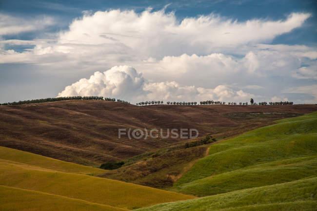 Autumn countryside fields hills — Stock Photo