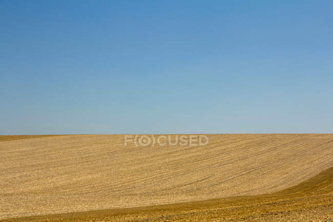 Landscape with scenic field view — Stock Photo