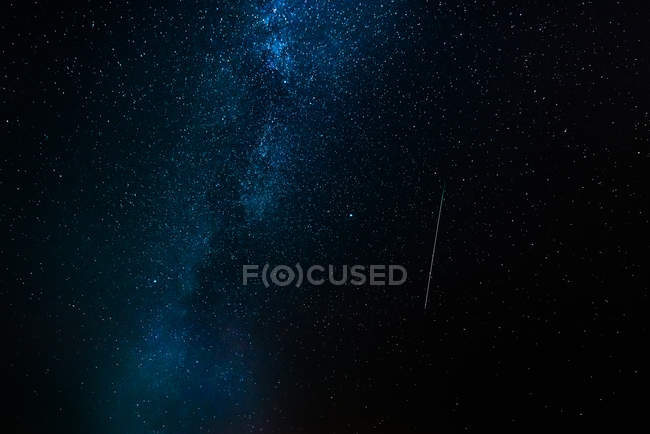 Blue dark night sky with milky way — Stock Photo