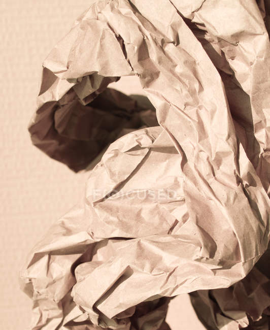 Crumpled packaging brown paper — Stock Photo