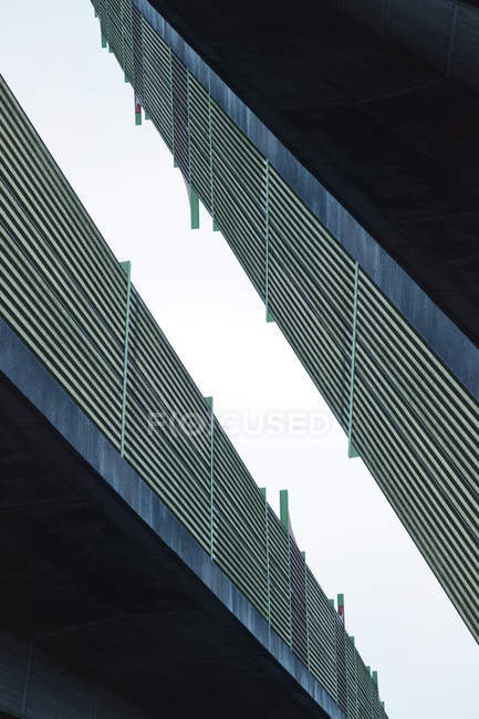 Two high building facades — Stock Photo