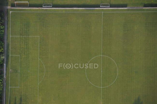 Vista aérea de tierra del estadio - foto de stock