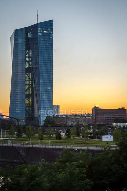 Europäische Zentralbank in Frankfurt, Deutschland — Stockfoto