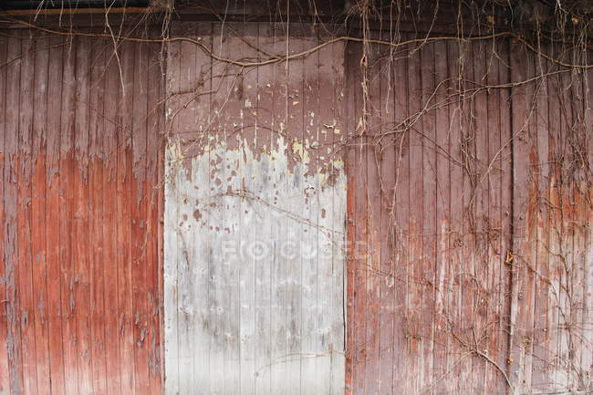 Old aged wooden barn wall — Stock Photo