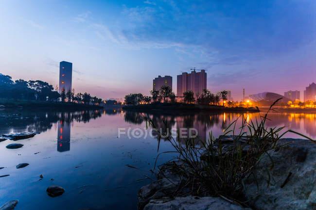 Modern cityscape Jiangyin — Stock Photo