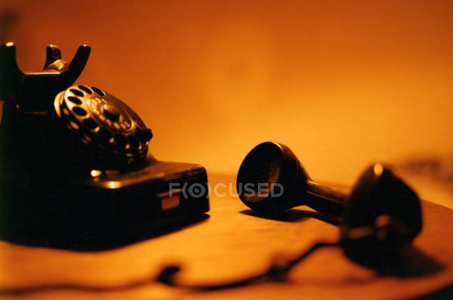 Old fashioned telephone with rotary dial — Stock Photo