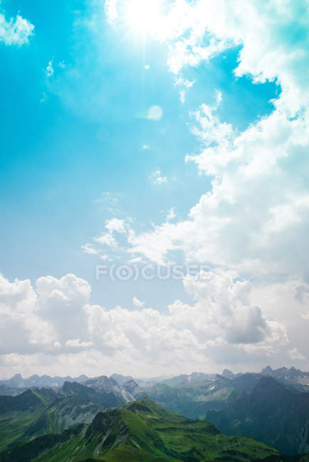 Beautiful view on mountains and cloudy sky, Bavaria Alps — Stock Photo