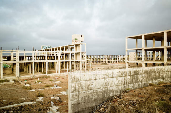 Unfinished buildings in Costa Teguise — Stock Photo