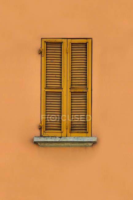 Повного кадру зображення стіни з вікна і дерев'яні жалюзі — стокове фото
