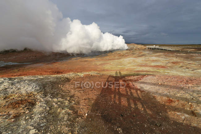 Scenic icelandic landscape in Gunnuhver, Iceland — Stock Photo