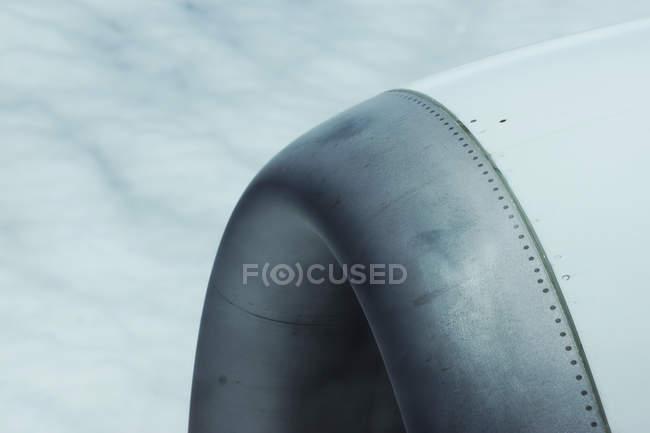 Перегляд турбіна літака — стокове фото