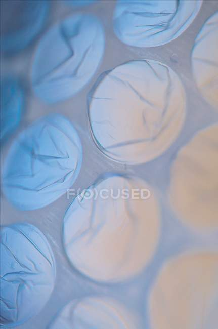 Abstract pattern with bubble wraps — Stock Photo