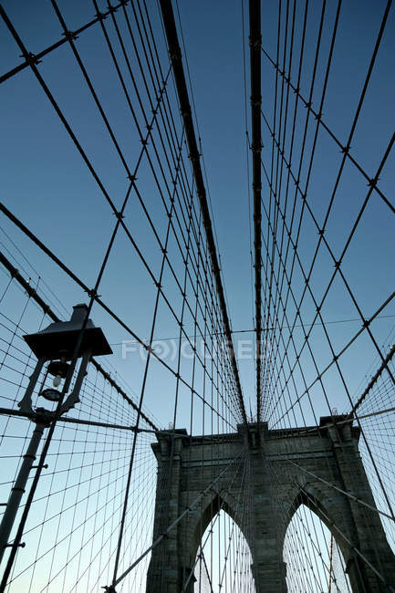 Brooklyn bridge, New York — Stock Photo