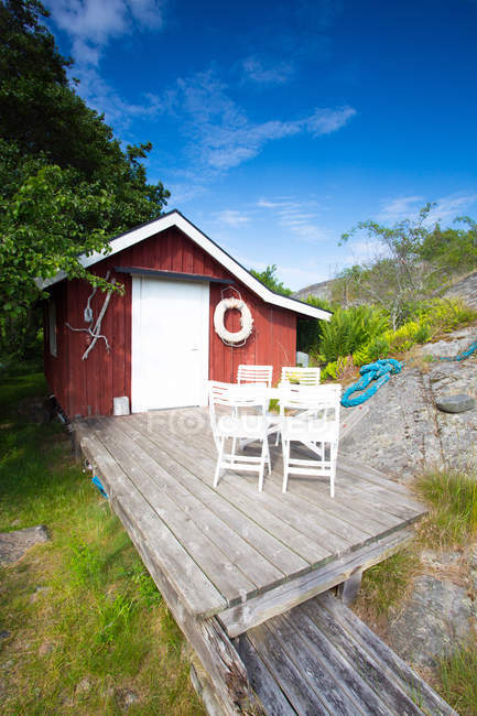 Vacation house with outside terrace - foto de stock