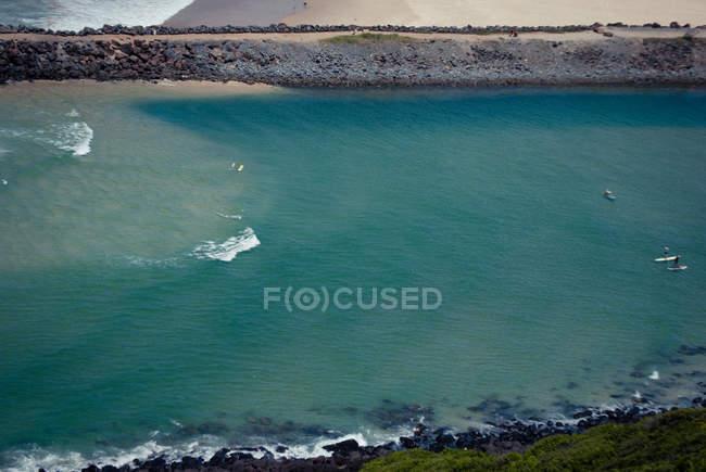 Aerial view of Pacific ocean coast, Queensland, Australia — Stock Photo