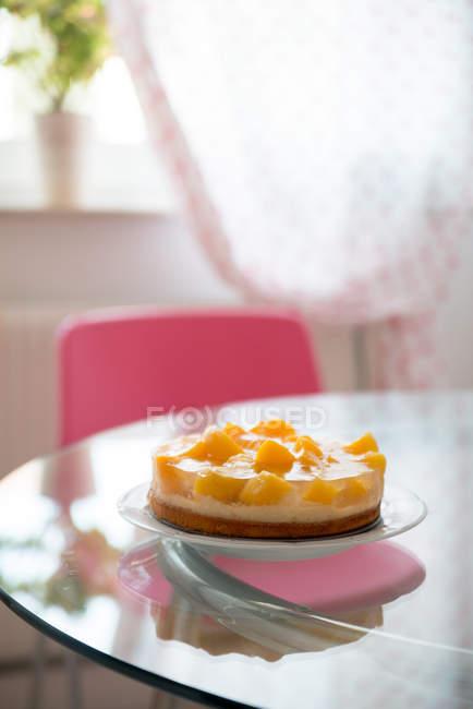 Fruit cake on plate u2014 Stock Photo & Fruit cake on plate u2014 Stock Photo | #158024226