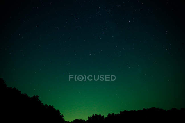 Northern lights display in sky — Stock Photo