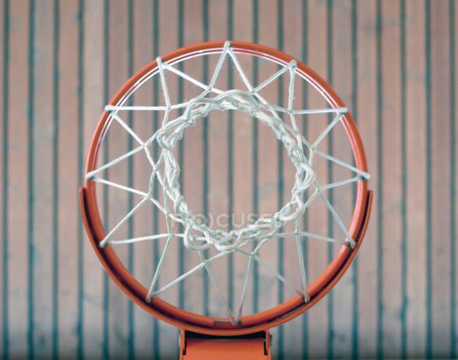 Basketball basket bottom view — Stock Photo