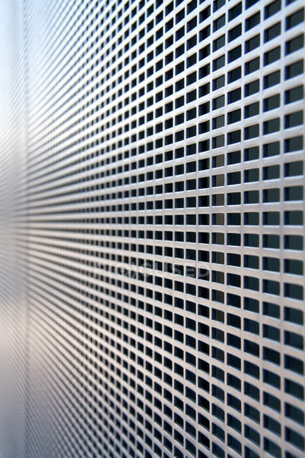 Abstract view of metal grid wall — Stock Photo