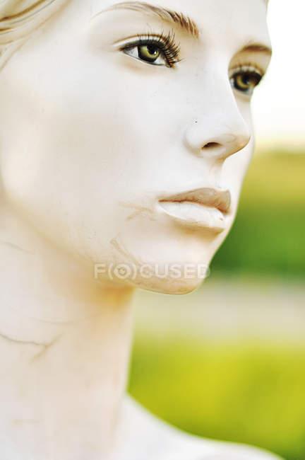 Closeup of plastic female mannequin profile — Stock Photo