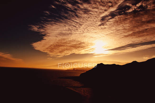 Mountain range during sunset — Stock Photo