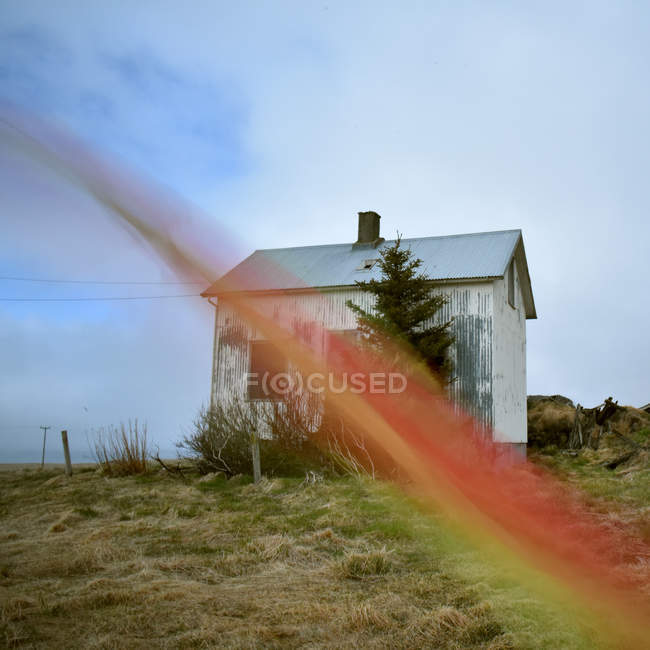Small Wooden Hut In Iceland U2014 Stock Photo