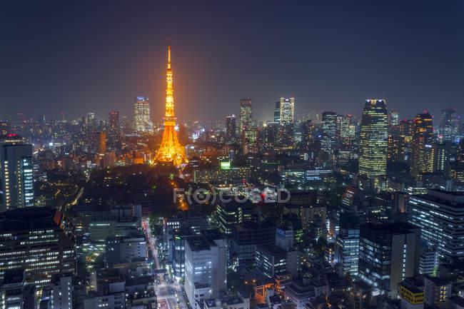 Vue du paysage urbain de Tokyo — Photo de stock