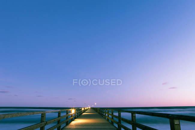 Footbridge by the sea — Stock Photo
