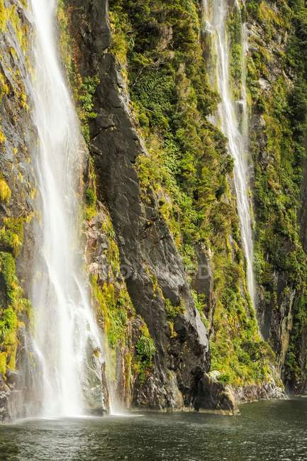 View of mountains waterfall — Stock Photo