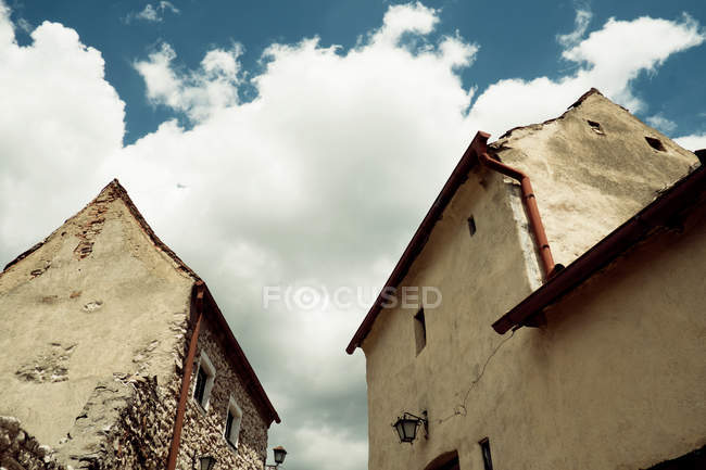 Exterior shot of buildings facade, wide angle — Stock Photo