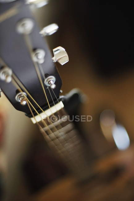 Closeup of guitar fingerboard — Stock Photo