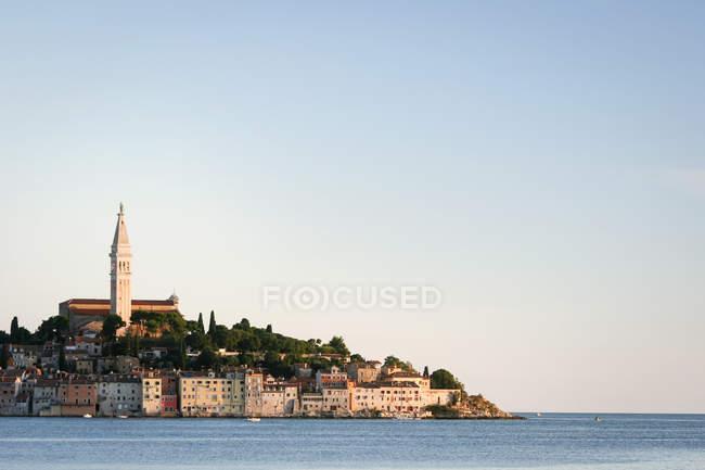 Rovinj old town on Adriatic sea coast view, Croatia — Stock Photo