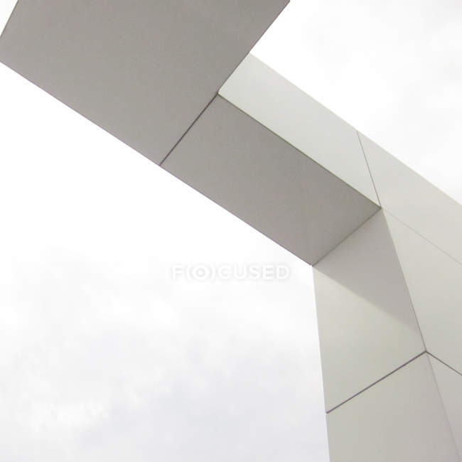 Exterior shot of geometrical building facade — Stock Photo