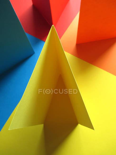 Decorative colorful paper details closeup view — Stock Photo