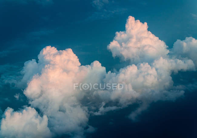 Scenic aerial view of big cloud formation on the sky — Stock Photo