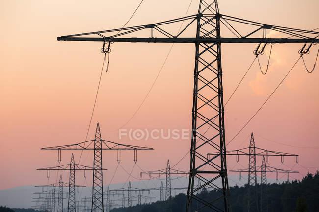 Мощность линии вид на susnet — стоковое фото