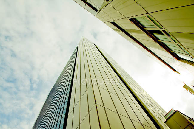 Buildings of modern architecture bottom view — Stock Photo