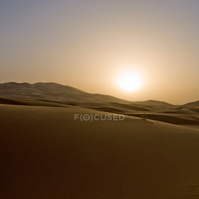 Outdoor place with desert landscape — Stock Photo