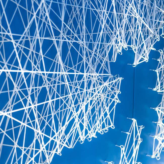 Vista del primo piano del reticolo di linee astratte — Foto stock