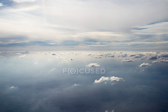 Aerial view with scenic clouds — Stock Photo