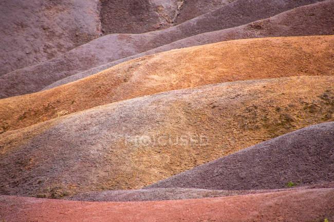 Colinas de arena multicolor paisaje - foto de stock
