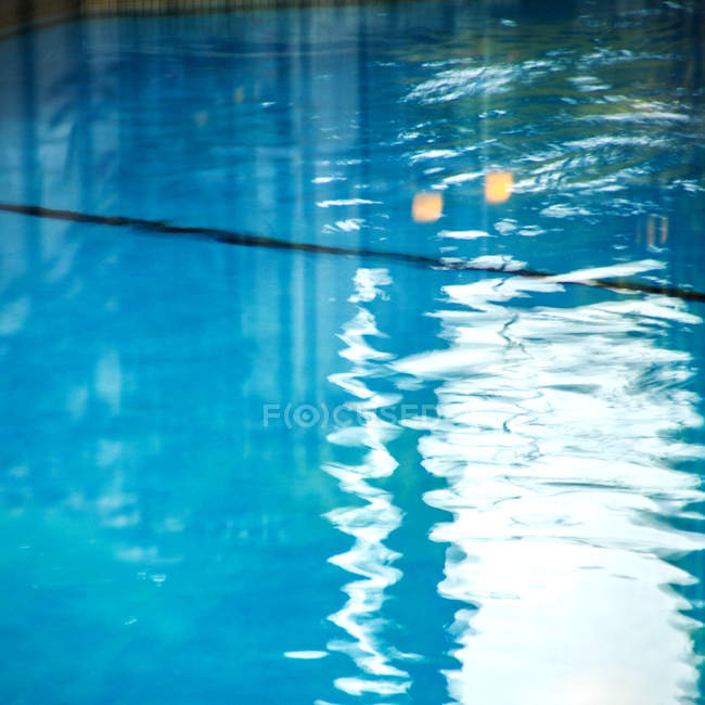 Swimming pool water surface — Stock Photo