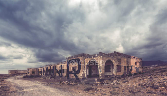 Scenic view of old building ruins — Stock Photo
