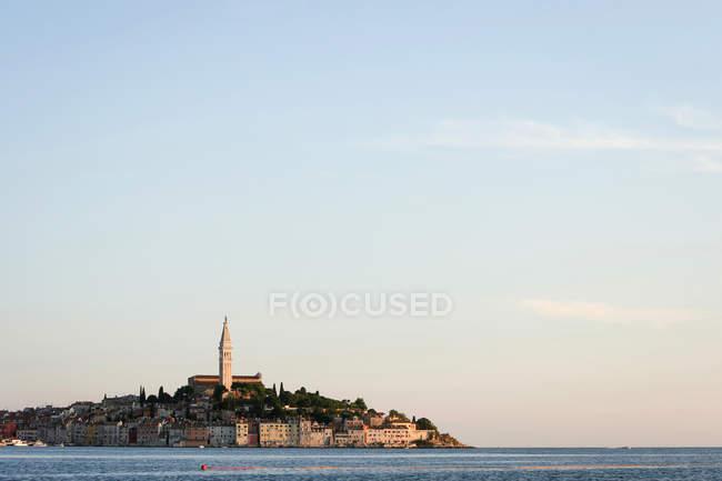 Town of Rovinj on Adriatic coast at sunset, Croatia — Stock Photo