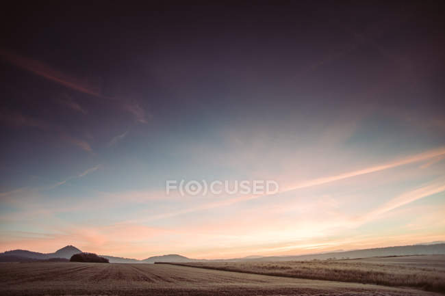 Landscape with scenic field — Stock Photo