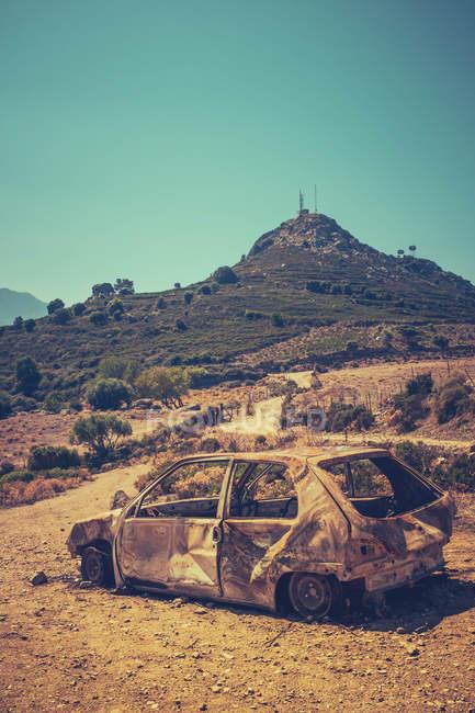 Спалили легкового пустельний ландшафт з гори — стокове фото