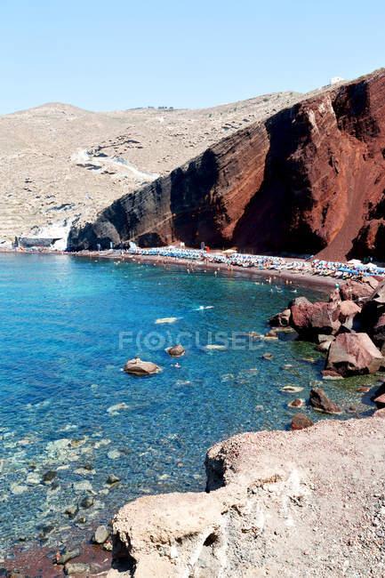 Скелястому узбережжі Середземного моря — стокове фото
