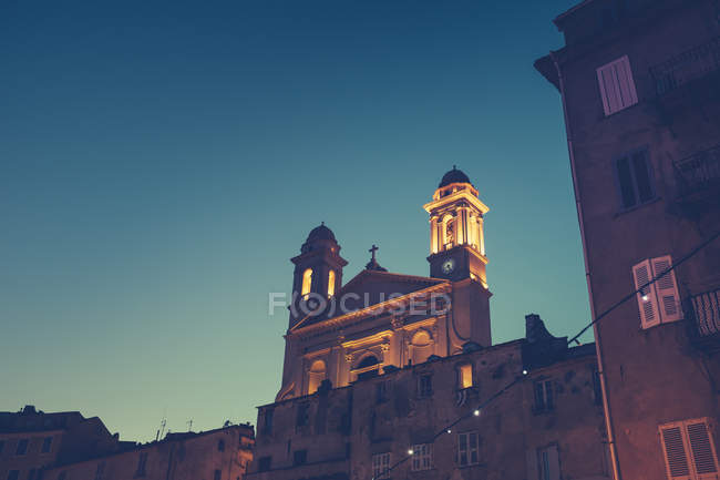Scenic view of church in corsica, france — Stock Photo